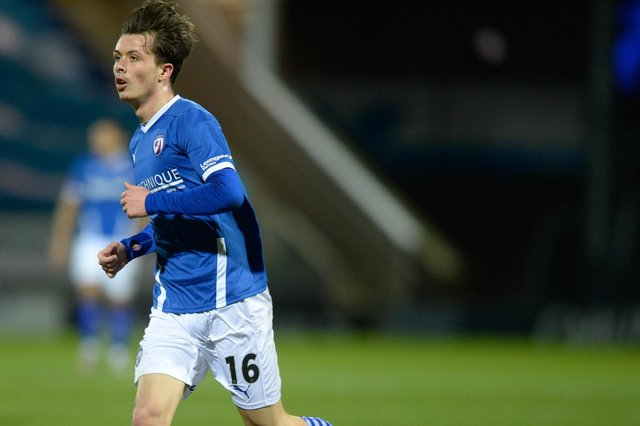 Chesterfield beat Barnet 2-0 at The Hive on Saturday. Pictured: Jack Clarke,