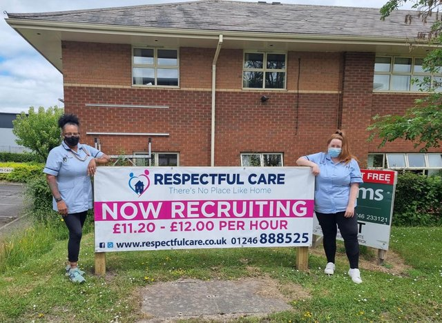 Lucy Fletcher and April Eastwood from Respectful Care Chesterfield.