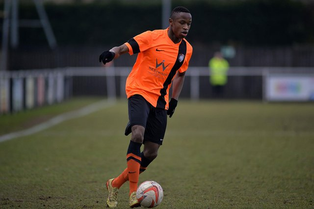 Jonathan Wafula during his time with Worksop Town.
