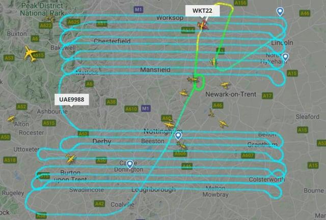 Picture from www.flightradar24.co.uk