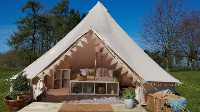 Luxury glamping experience at Broomhill Wood.