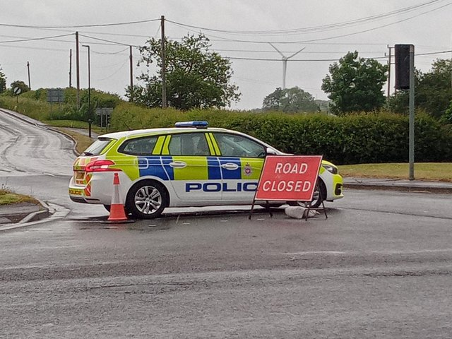 Police have shut off a number of roads in the Duckmanton area this morning due to an ongoing incident.