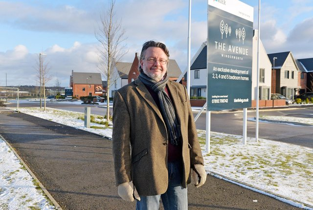 Derbyshire County Council leader Barry Lewis says he is 'delighted' the new school will be built on The Avenue site at Wingerworth.