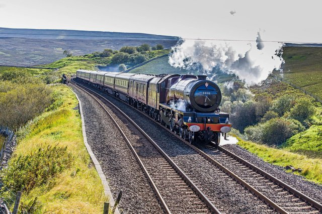 The steam-hauled Northern Belle featured in Channel 5's World's Most Scenic Railways programme when actor Bill Nighy travelled through the Yorkshire Dales.