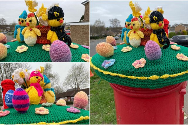 The Easter-theme post box