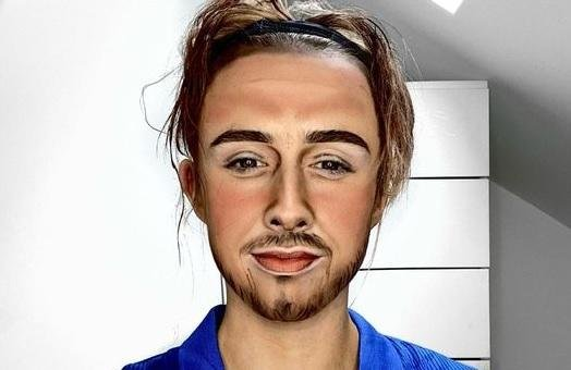Jack Grealish, portrayed in make-up by Rachel Brobbin.
