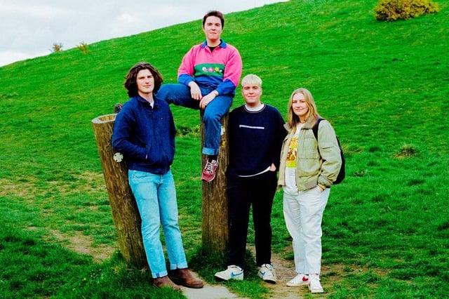 Alpaca Factory are, from left, Tom Gannon, Jono Vardy, James Vardy and Rebecca Church.