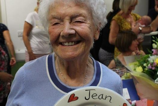 Jean Raynor, Chesterfield Royal Hospital's longest serving volunteer, who has passed away aged 91. Image: Chesterfield Royal Hospital, via Facebook.