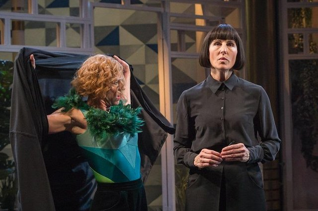 Tamsin Grieg, right, and Doon Mackichan in the National Theatre's production of Twelfth Night.