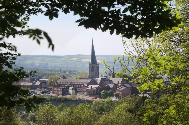 Chesterfield and its famous Crooked Spire is a popular place to live.