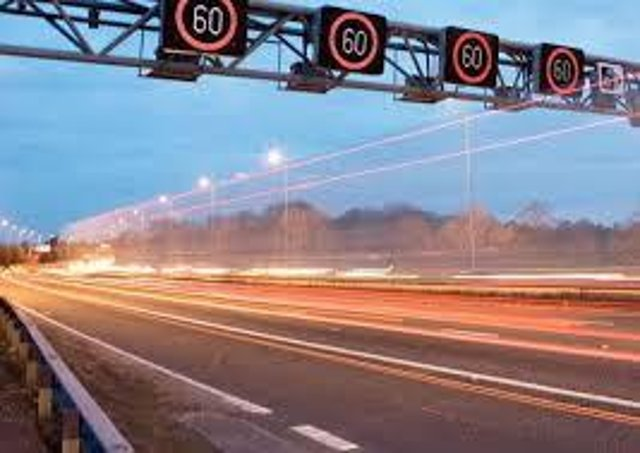 Three lanes of the M1 have been closed
