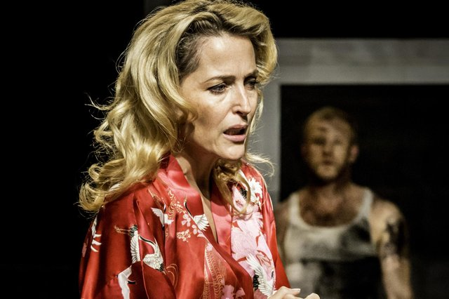 Gillian Anderson in A Streetcar Named Desire. Photo by Johan Persson.