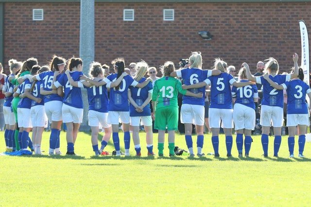 Chesterfield FC Women lost to Lincoln United in the final of the Trevor Clifton Trophy. Picture: Tina Jenner.