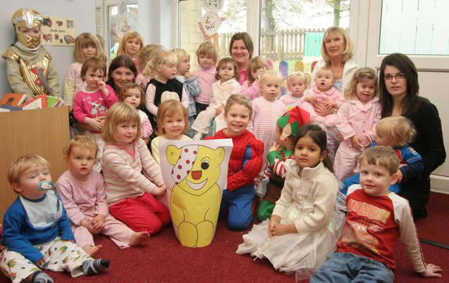 Sunshine nursery dressed up for Children in Need in 2007