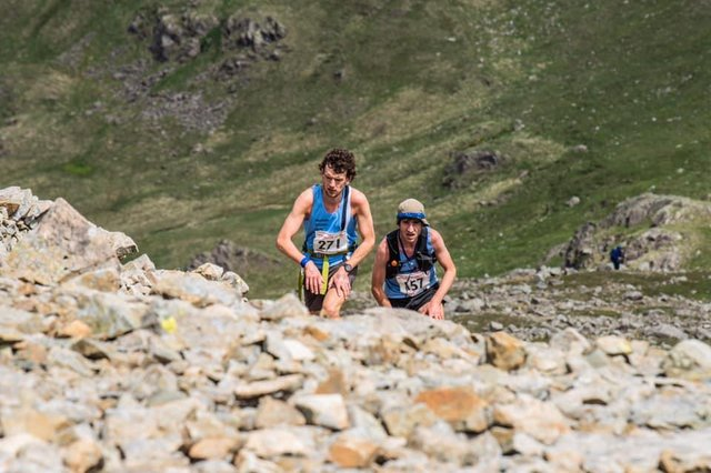 Matlock's Billy Cartwright and Dan Haworth in the Ennerdale Horseshoe Fell Race.