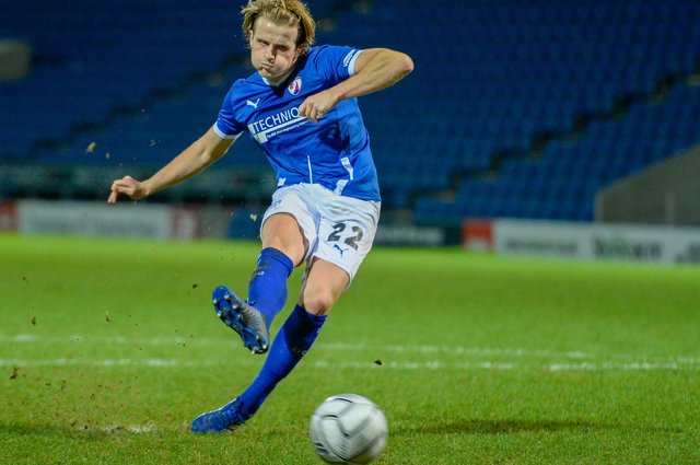 Tom Whelan should come back into the starting line-up against Eastleigh after serving a three-match ban.