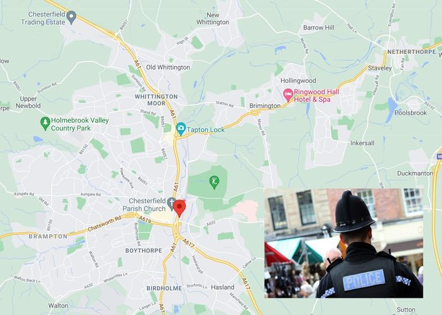 Based on Derbyshire Police's crime map for the town - with outcomes