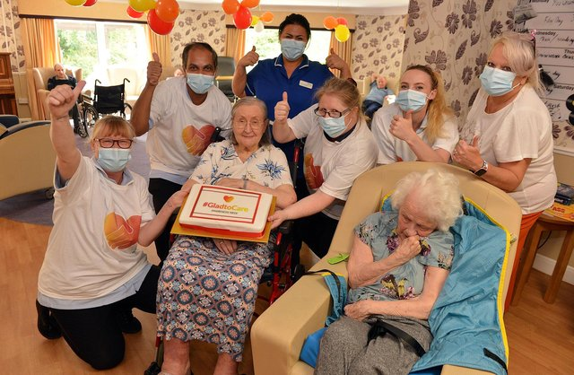 Staff and residents at the Heights in New Tupton are enjoying #GladtoCare week. Pictures by Brian Eyre.