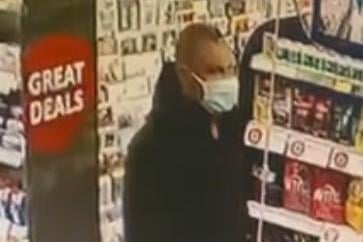 Police are seeking to trace the man pictured in relation to an alleged theft from Nisa Local in Wingerworth on June 10.