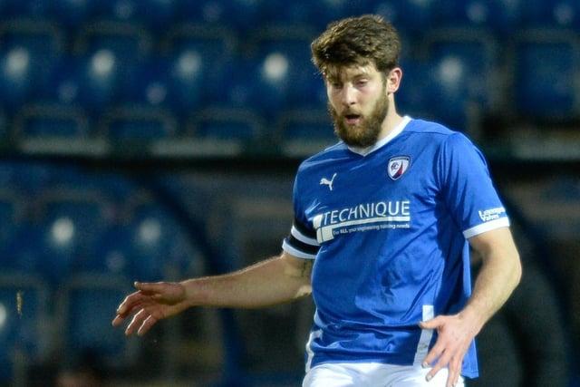 Former Chesterfield defender Will Evans has signed for Boreham Wood.