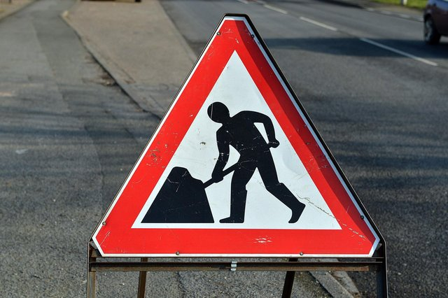 The A6 at Bakewell, between Granby Road and Intake Lane, will be closed this evening for a week due to resurfacing work.