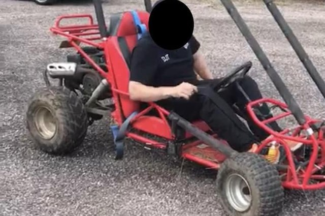 A large petrol powered off road go-kart was stolen