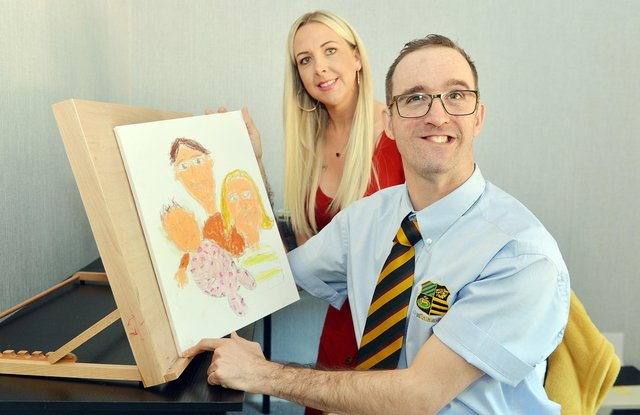 The 33-year-old seen next to his full-time carer Jo Timbrell.