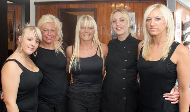 Lush hair salon staff  l to r  Carly, Donna, Kelli, Natalie and Kerry in 2006
