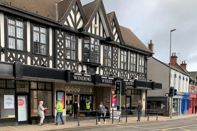 Chesterfield's Winding Wheel Theatre is currently operating as a Covid-19 vaccination centre and is expected to continue to do so until late August.