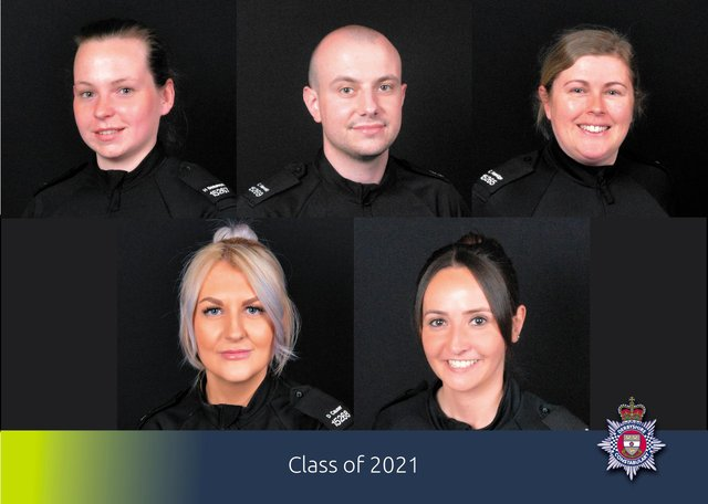 The latest recruits to Derbyshire Police.