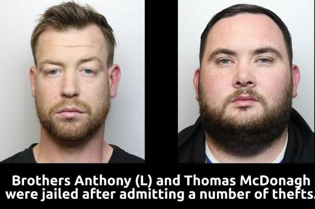 Brothers Anthony and Thomas McDonald were jailed for a combined total of more than three years after pleading guilty to a number of catalytic converter thefts.
