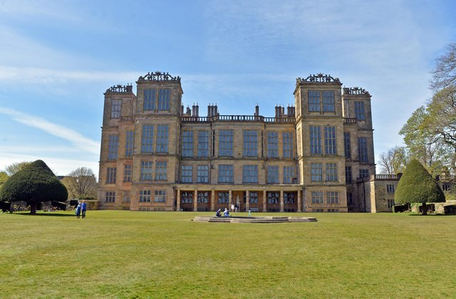 Blossom is blooming across Derbyshire and the National Trust is inviting people to emulate Japan's Hanami – the ancient tradition of viewing and celebrating blossom - with its #BlossomWatch campaign. Hardwick Hall in spring bloom.