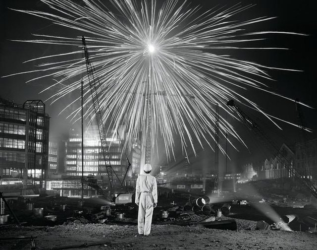 One of Brian Griffin's photos from his Black Country Dada exhibition which is on show at QUAD Derby.