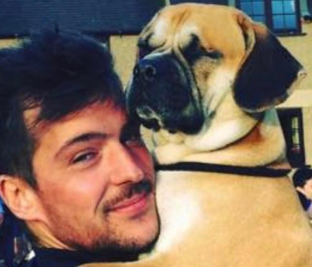James Alton with his beloved dog, Arthur