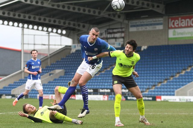 Chesterfield's rise up the table has been based on solid foundations. Pictured: Haydn Hollis