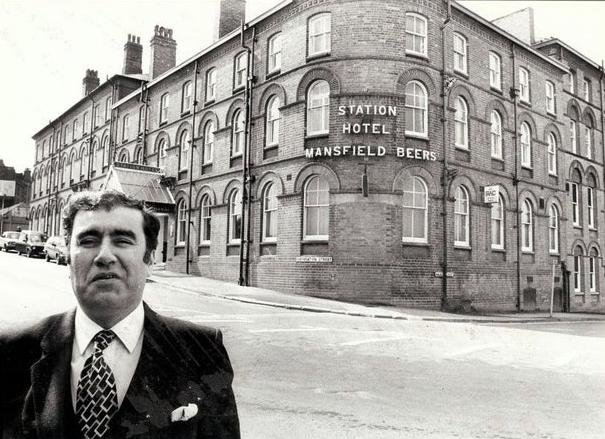 Abraham Bejerano outside Chesterfield Hotel, formerly called the Station Hotel.