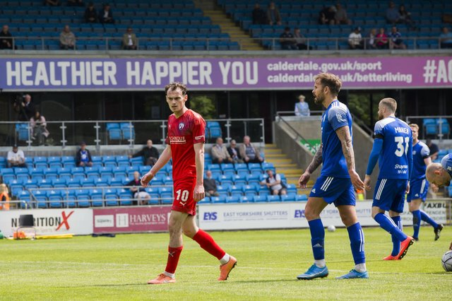 Liam Mandeville was Chesterfield's star man in the win against Halifax.