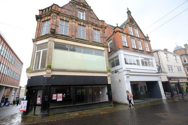 The former Greggs unit in Chesterfield town centre.