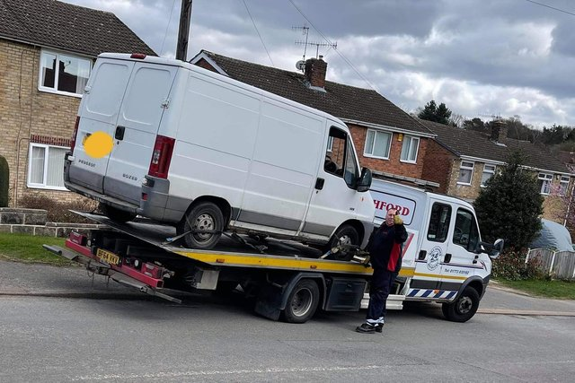 The van was seized in Chesterfield after reports of suspicious activity.