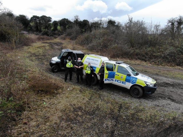Police patrolled Renishaw, Killamarsh and Eckington yesterday (March 14) to clamp down on antisocial off road bikers. Credit: Derbyshire Rural Crime Team.