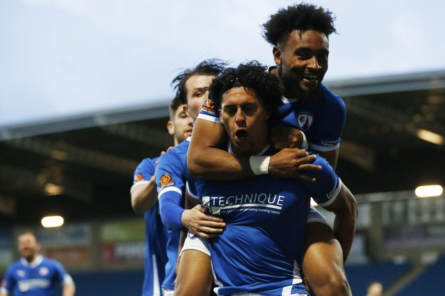 Chesterfield hold the last play-off spot with two games remaining.
