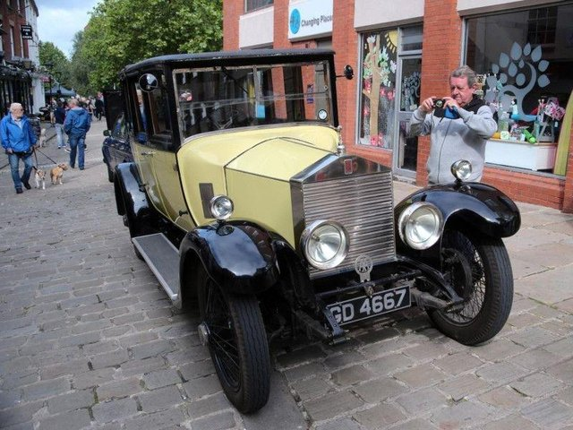 This Rolls Royce was one of many vehicles on show at Chesterfield Motor Fest in 2019.