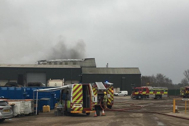 A fire broke out at Stanton Recycling in Crompton Road, Ilkeston last night (March 23).