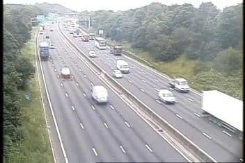All lanes have been reopened on the M1 northbound in Derbyshire after a vehicle broke down earlier this morning. Credit: Highways England.