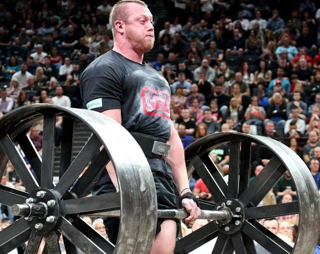 Adam Bishop, winner of the 2020 Britain's Strongest Man title.