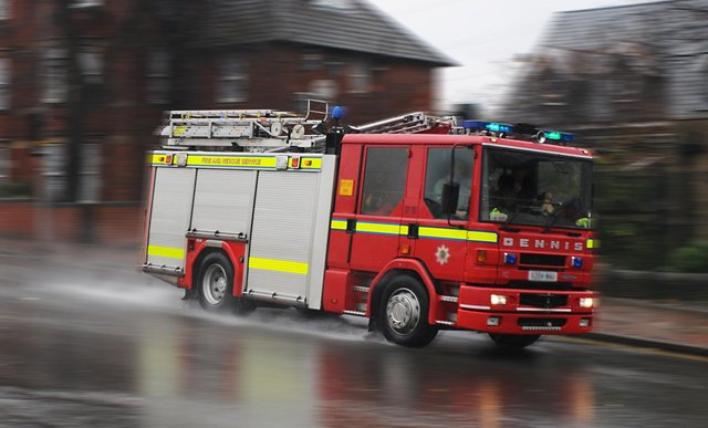 A car caught fire on Frost Avenue in Langley Mill last night (Wednesday,, May 19).         .