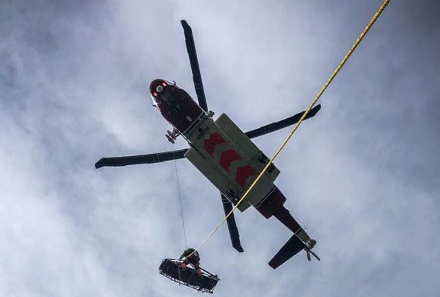 Picture posted by Derby Mountain Rescue Team on Twitter.