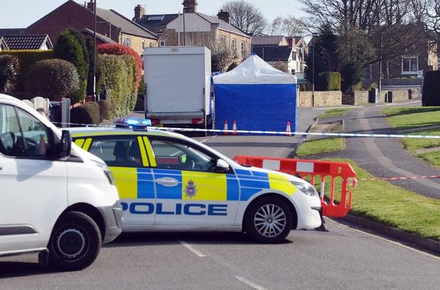 The scene of a serious assualt on Westthorpe Road in Killamarsh.