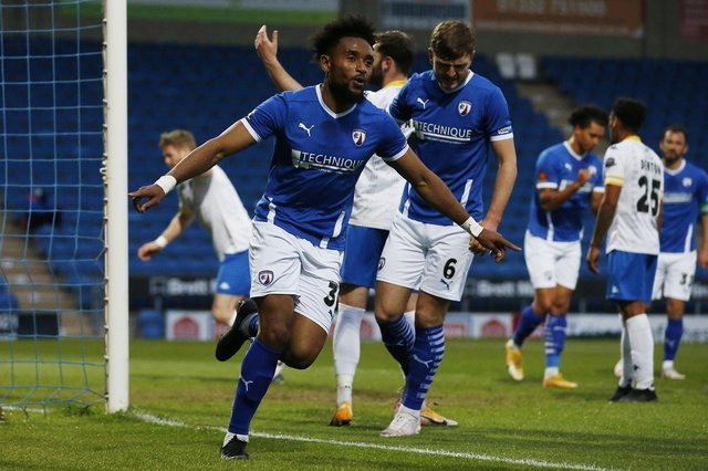 Chesterfield have two games remaining to secure a play-off spot.