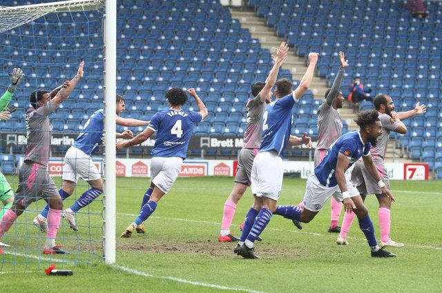 Josef Yarney's first-half goal was ruled out after Adi Yussuf was adjudged to have handled the ball.